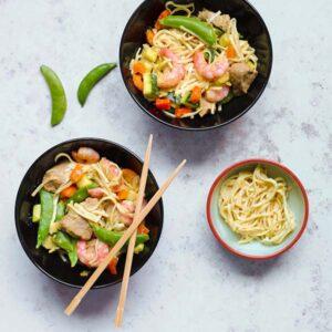 Recept met vis en vlees